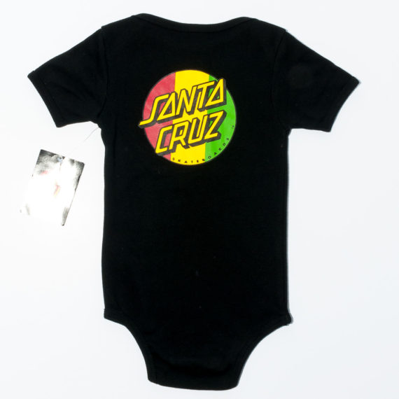Santa Cruz Skateboards Baby Grow Rasta Dot Black