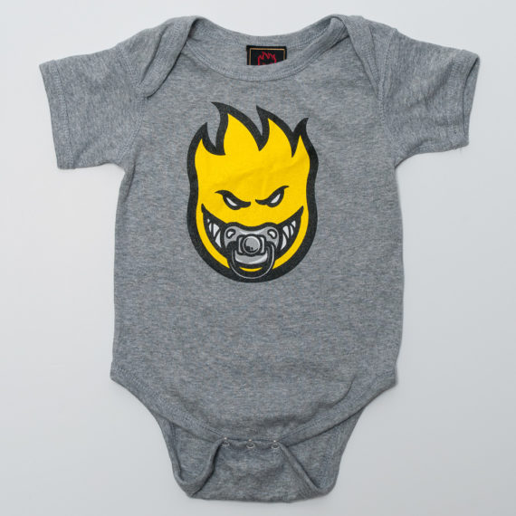 Spitfire Wheels Baby Grow Paci-fier Grey