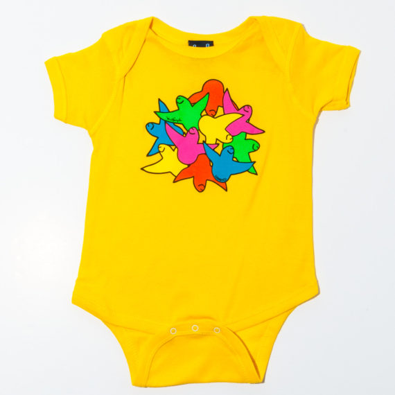 Krooked Skateboards Baby Grow Schmoo Yellow 1