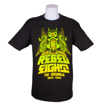 Rebel 8 Gargoyle T-Shirt Black