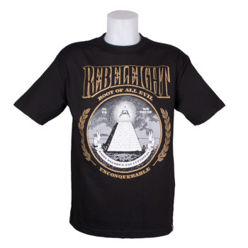 Rebel 8 Root Of All Evil T-Shirt Black