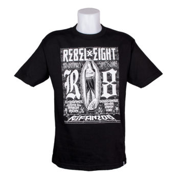 Rebel 8 Rifamos T-Shirt Black