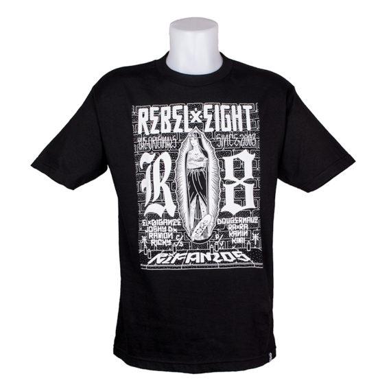 Rebel 8 Rifamos T-Shirt Black
