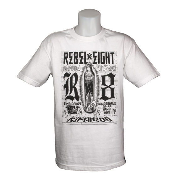 Rebel 8 Rifamos T-Shirt White 1
