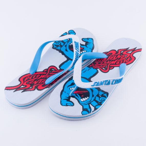 Santa Cruz Skateboards Flip Flops Screaming Hand White 1