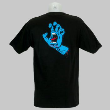 Santa Cruz Screaming Hand Back Print T-Shirt Black