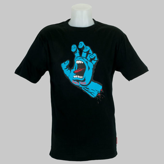 Santa Cruz Screaming Hand Front Print T-Shirt Black