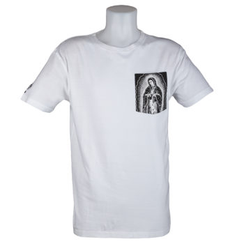 Santa Cruz T-Shirt White Pray Pocket