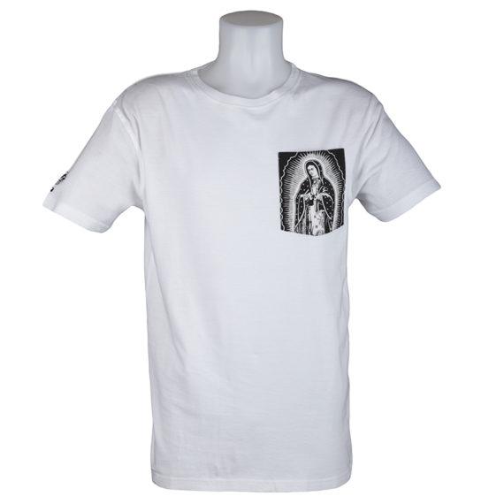 Santa Cruz T-Shirt White Pray Pocket
