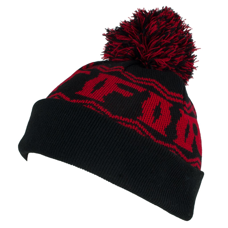 Spitfire Beanie Fire Pom Black Red