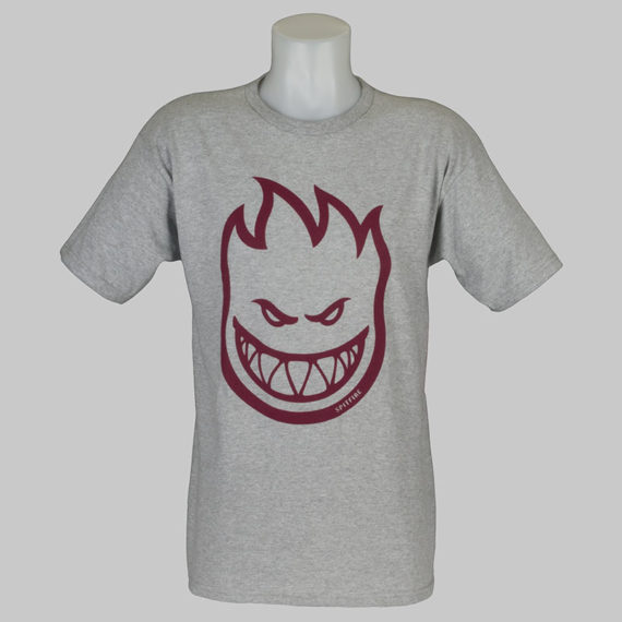 Spitfire Wheels T-Shirt Bighead Heather Burgundy 1