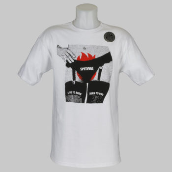 Spitfire Wheels T-Shirt Fire Crotch White