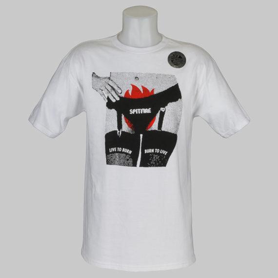 Spitfire Wheels T-Shirt Fire Crotch White