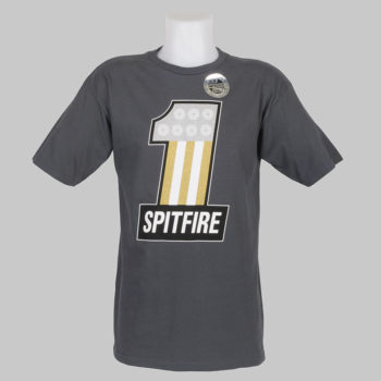 Spitfire Wheels T-Shirt #1 Charcoal