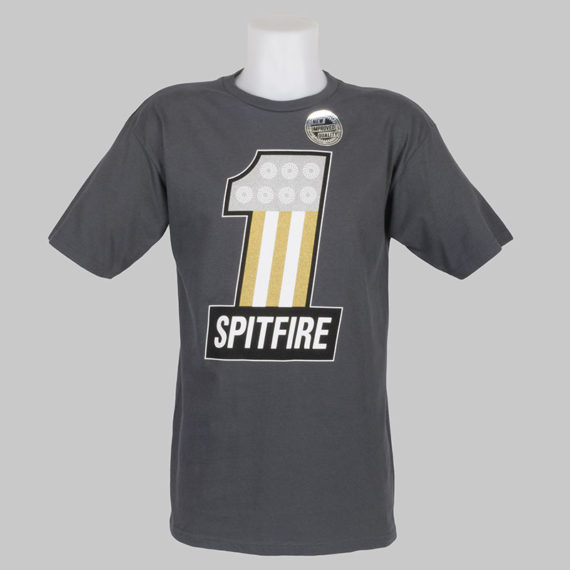 Spitfire Wheels T-Shirt #1 Charcoal 1