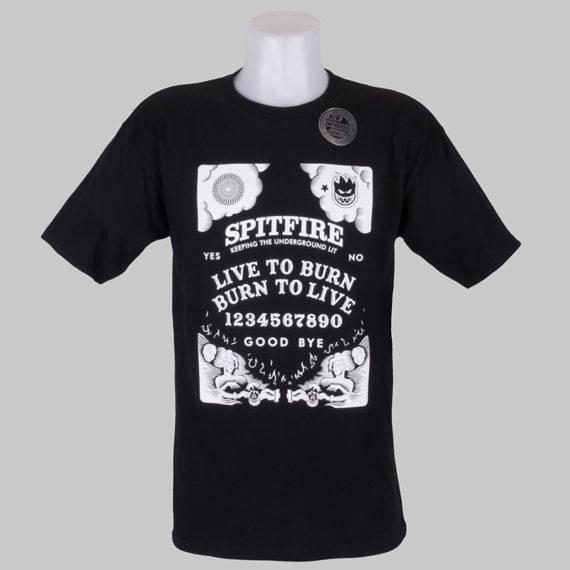 Spitfire Wheels T-Shirt Seance Black White