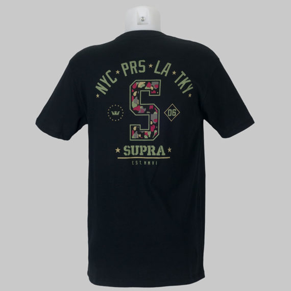 Supra Footwear T-Shirt Worldwide Tops Black