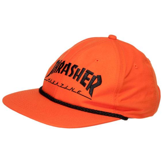 Thrasher Magazine Cap Rope Snapback Orange Black