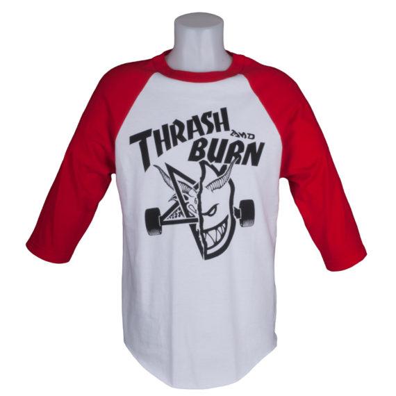 Thrasher Magazine x Spitfire Skate Goat Raglan White Red 1