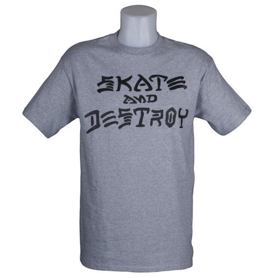 Thrasher Magazine Skate and Destroy T-Shirt Grey