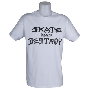 Thrasher Magazine Skate and Destroy T-Shirt White