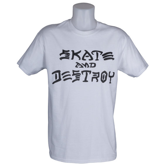 Thrasher Magazine Skate and Destroy T-Shirt White