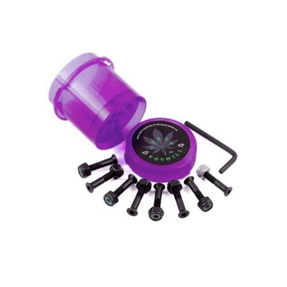 """Diamond Torey Pudwill Hella Tight Hardware 7/8"""" Bolts And Grinder Purple"""