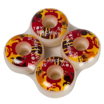 Toy Machine Stencils Red Wheels 55mm White