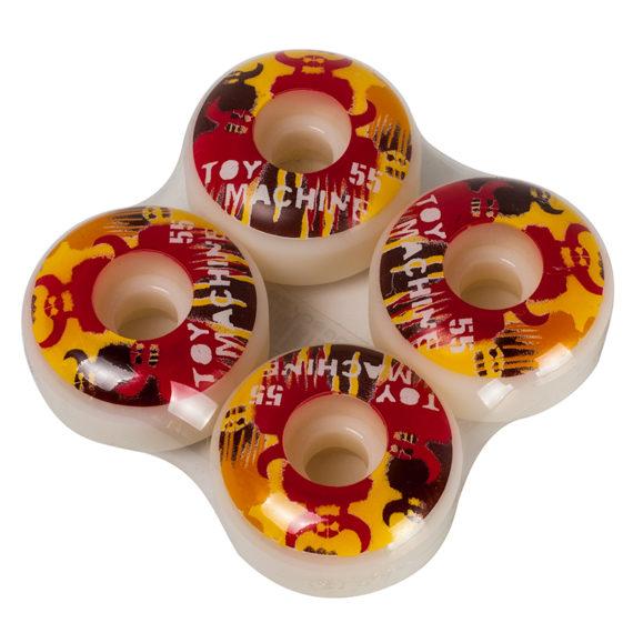Toy Machine Stencils Red Wheels 55mm White