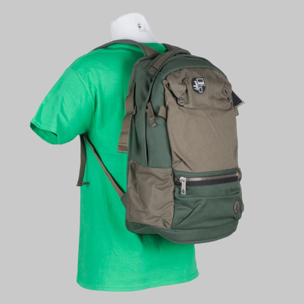 Volcom Clothing Backpack Symptom Bag Green
