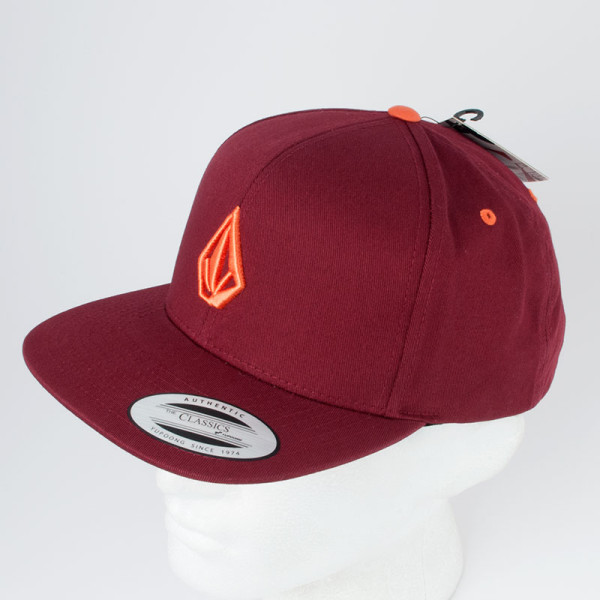 Volcom Clothing Snapback Hat 3D Stone Burnt Sienna