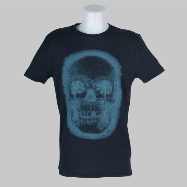 Volcom Clothing T-Shirt Feathers Blue Black