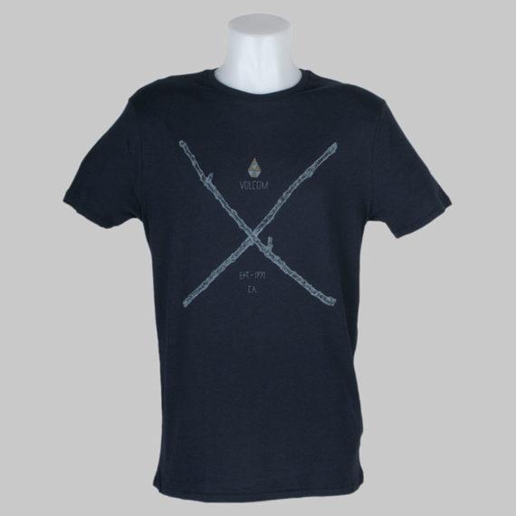 Volcom Clothing T-Shirt Pick Up Sticks Blue Black 1