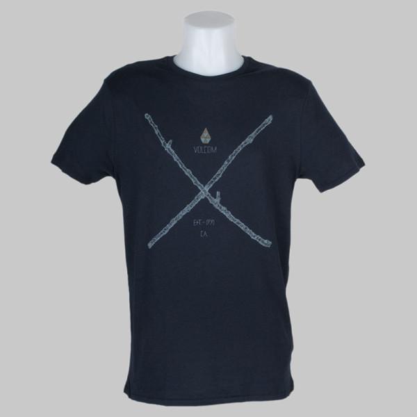 Volcom Clothing T-Shirt Pick Up Sticks Blue Black
