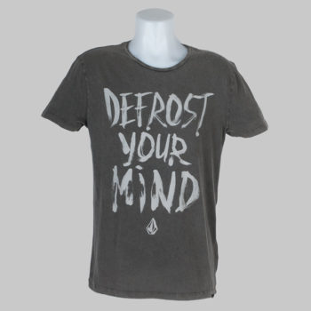 Volcom Clothing T-Shirt Defrost Your Mind Sulfur Black