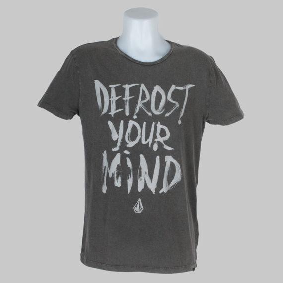 Volcom Clothing T-Shirt Defrost Your Mind Sulfur Black