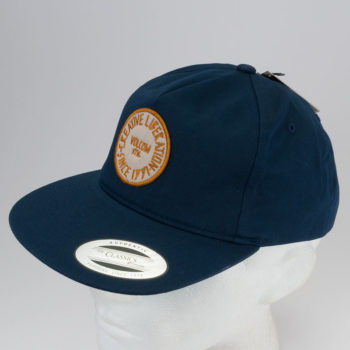 Volcom Clothing Hat Timer Velco Back Blue Black