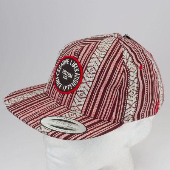 Volcom Clothing Hat Timer Velco Back Red