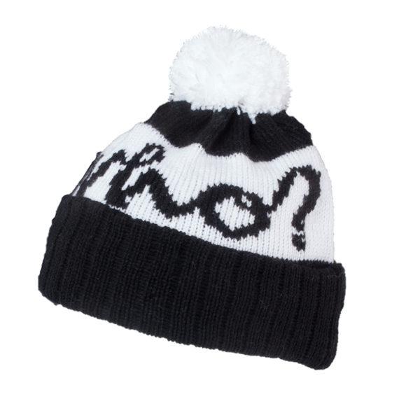Who Clothing Black Logo Bobble Hat 1