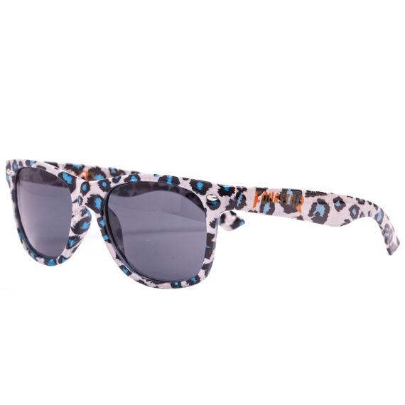 Glassy Sunhaters Fourstar Leopard Print Sunglasses