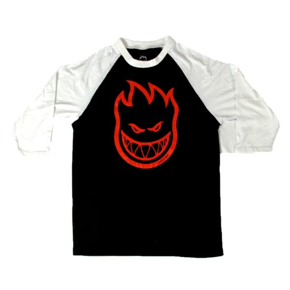 SPITFIRE Bighead Raglan – Black/Red/White 1