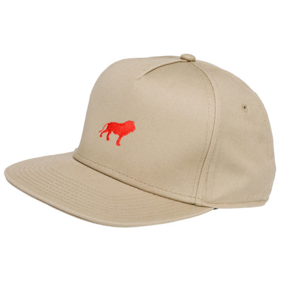 Hopps Skateboards Hat Lion Khaki