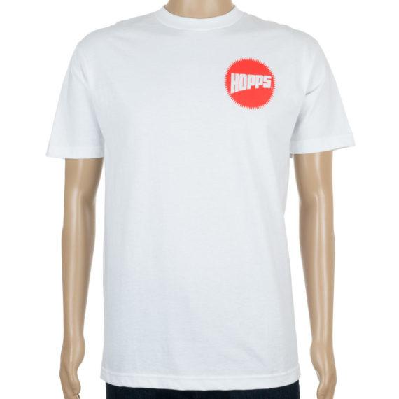 Hopps Skateboards Sun Logo T-Shirt White at Skate Pharm