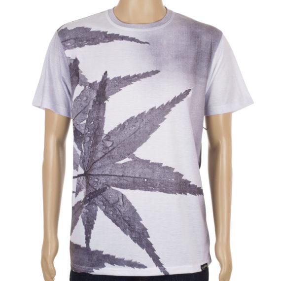 Organika Skateboards T-Shirt Morning Leaf White
