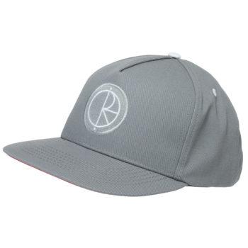 Polar Skateboards Stroke Logo Snapback Cap Grey