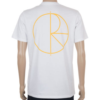 Polar Skateboards T-Shirt Stroke Logo White Orange