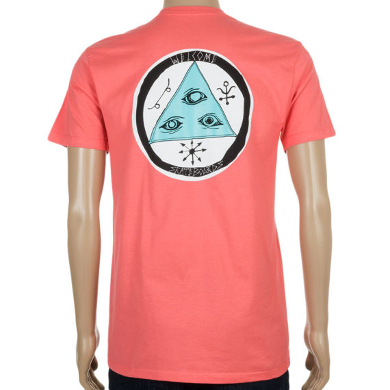 Welcome Skateboards T-Shirt Talisman Coral