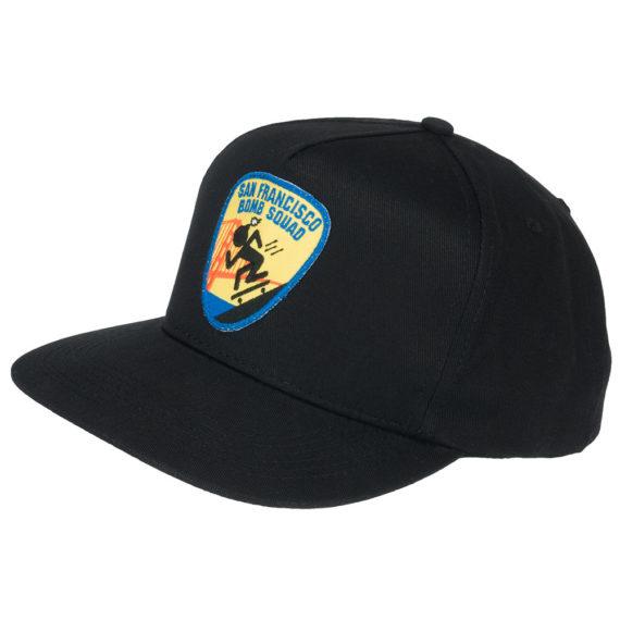 Thrasher Bomb Squad Snapback Hat Black