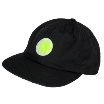 Post Details Six Panel Tennis Anyone Strapback Hat Black