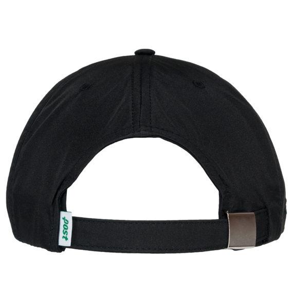 Post Details Six Panel Tennis Anyone Strapback Hat Black